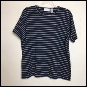 Liz Claiborne Cotton Stripe Nautical T Shirt Sz XL